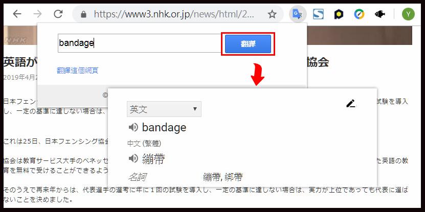 網頁翻譯,Google翻譯,即時翻譯,擴充